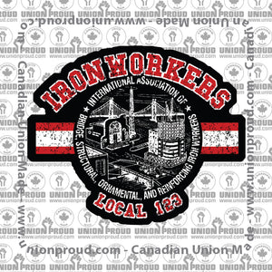 Ironworkers Collegiate Union Decal