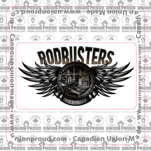 IW Rodbusters Steel Wings Decal
