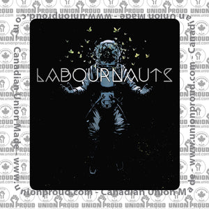 Labournauts Blue Spaceman Decal