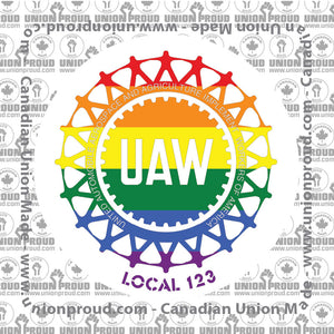 UAW Pride Decal
