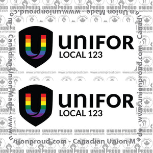 UNIFOR Pride Decal