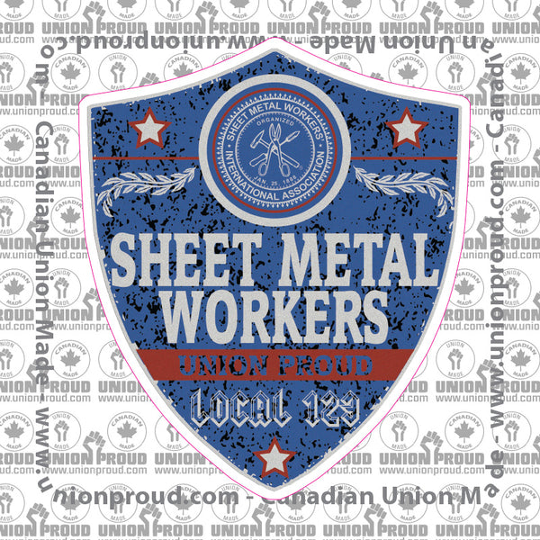Sheet Metal Workers Blue Badge Decal Unionproud Com