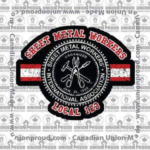 Sheet Metal Collegiate Union Decal