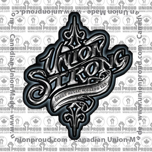 Sheet Metal Union Strong Decal