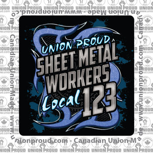 Sheet Metal Blue Metal Union Decal