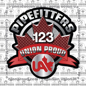 UA Pipefitters Round Canada Decal