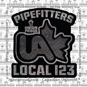 UA Pipefitters Iron Fist Decal
