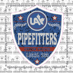 UA Pipefitters Blue Badge Decal