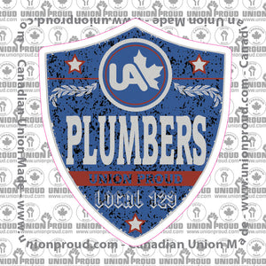 UA Plumbers Blue Badge Decal