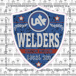 UA Welders Blue Badge Decal