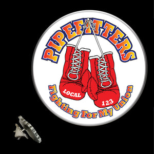 UA Pipefitters Fighting For My Union Lapel Pin