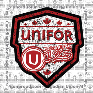 UNIFOR Canada Shield Union Decal