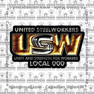 USW Luxury Logo Decal
