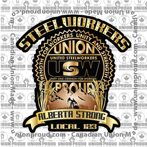USW Alberta Strong Decal