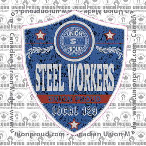 USW Blue Badge Decal