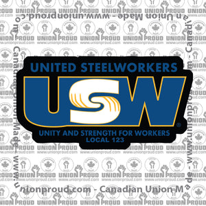USW Basic Logo Union Decal