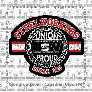 USW Steelworkers Collegiate Union Decal