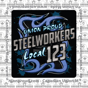 USW Steelworkers Blue Metal Union Decal
