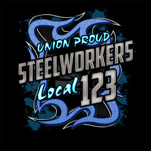USW Steelworkers Blue Metal Union Apparel