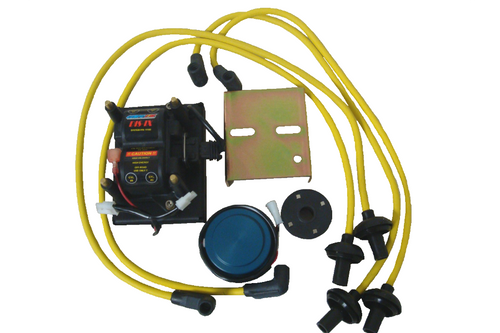 Compu-Fire 11100-Y - DIS-IX Distributorless Ignition System with Yellow Plug Wires for BOSCH 009 Distributor