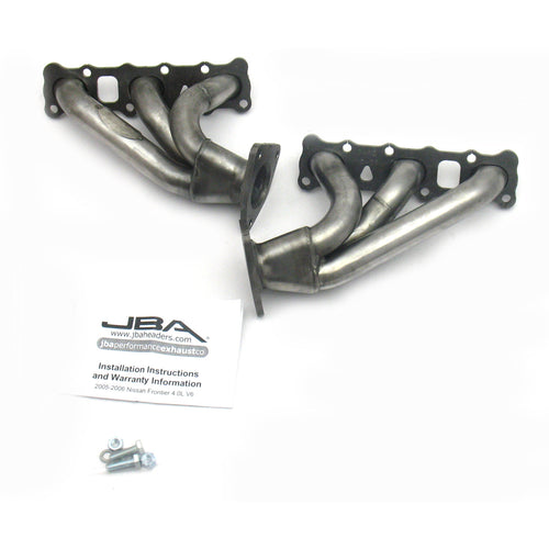 "JBA Performance Exhaust 1410S 1 5/8"" Header Shorty Stainless Steel 05-19 Frontier 4.0L"