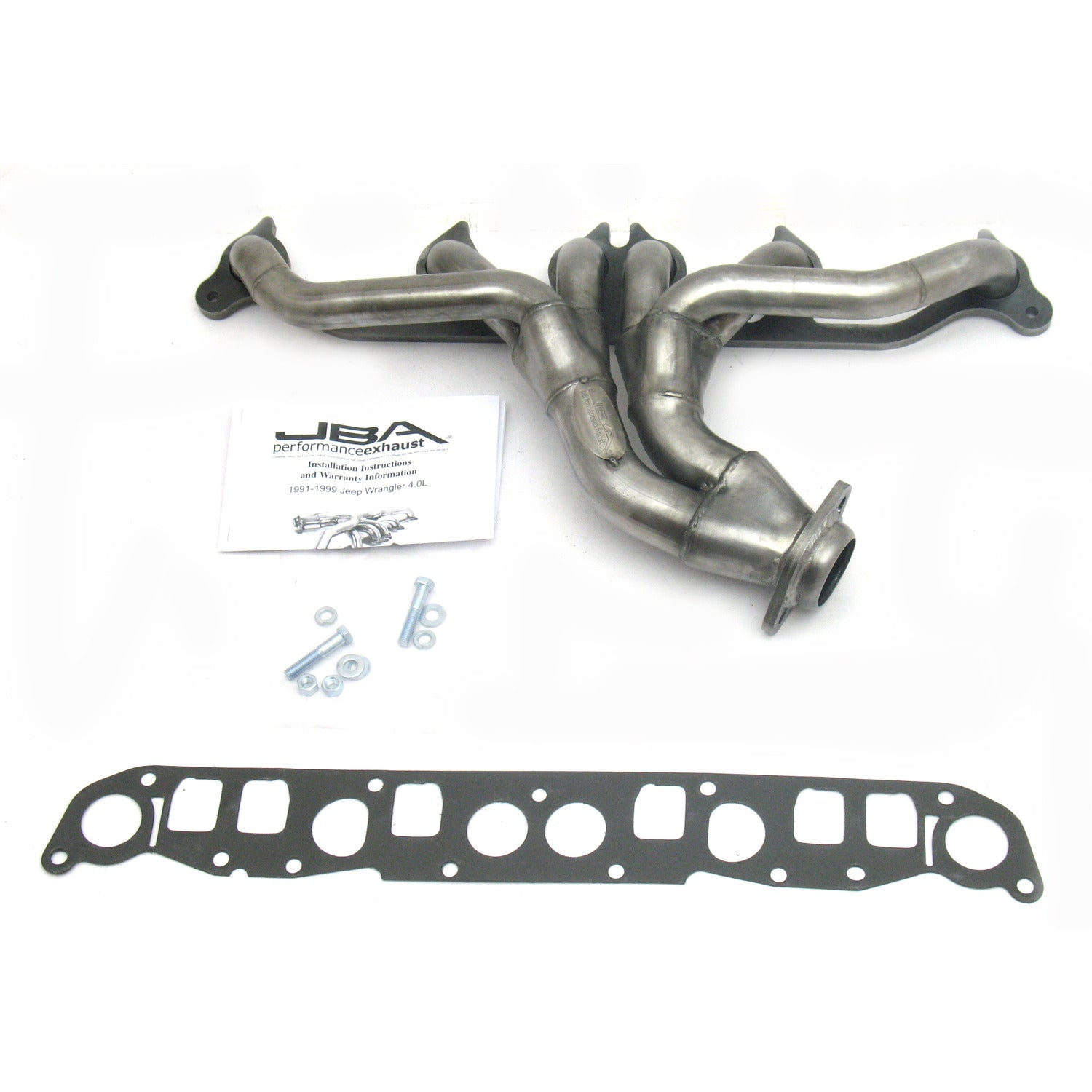 "JBA Performance Exhaust 1526S 1 1/2"" Header Shorty Stainless Steel 91-99 Jeep Wrangler/Cherokee 4.0L"