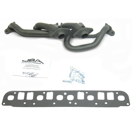 "JBA Performance Exhaust 1527SJT 1 1/2"" Header Shorty Stainless Steel 00-06 Jeep Wrangler 4.0L Titanium Ceramic"