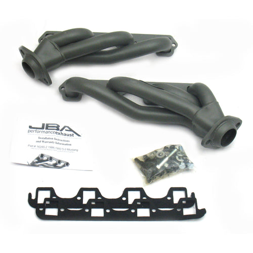 "JBA Performance Exhaust 1624S-2JT 1 5/8"" Header Shorty Stainless Steel 86-93 Mustang 5.0L Titanium Ceramic"