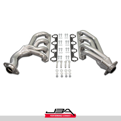 "JBA Performance Exhaust 1655SJS 1 5/8"" Header Shorty Stainless Steel 65-73 Mustang 351W Cable Clutch Silver Ceramic"