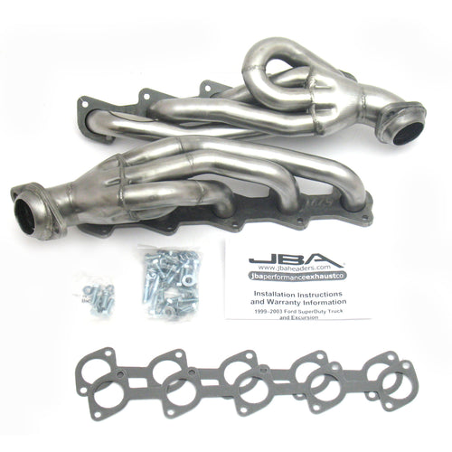 "JBA Performance Exhaust 1669S 1 1/2"" Header Shorty Stainless Steel 99-04 Ford Truck/Excursion V-10"