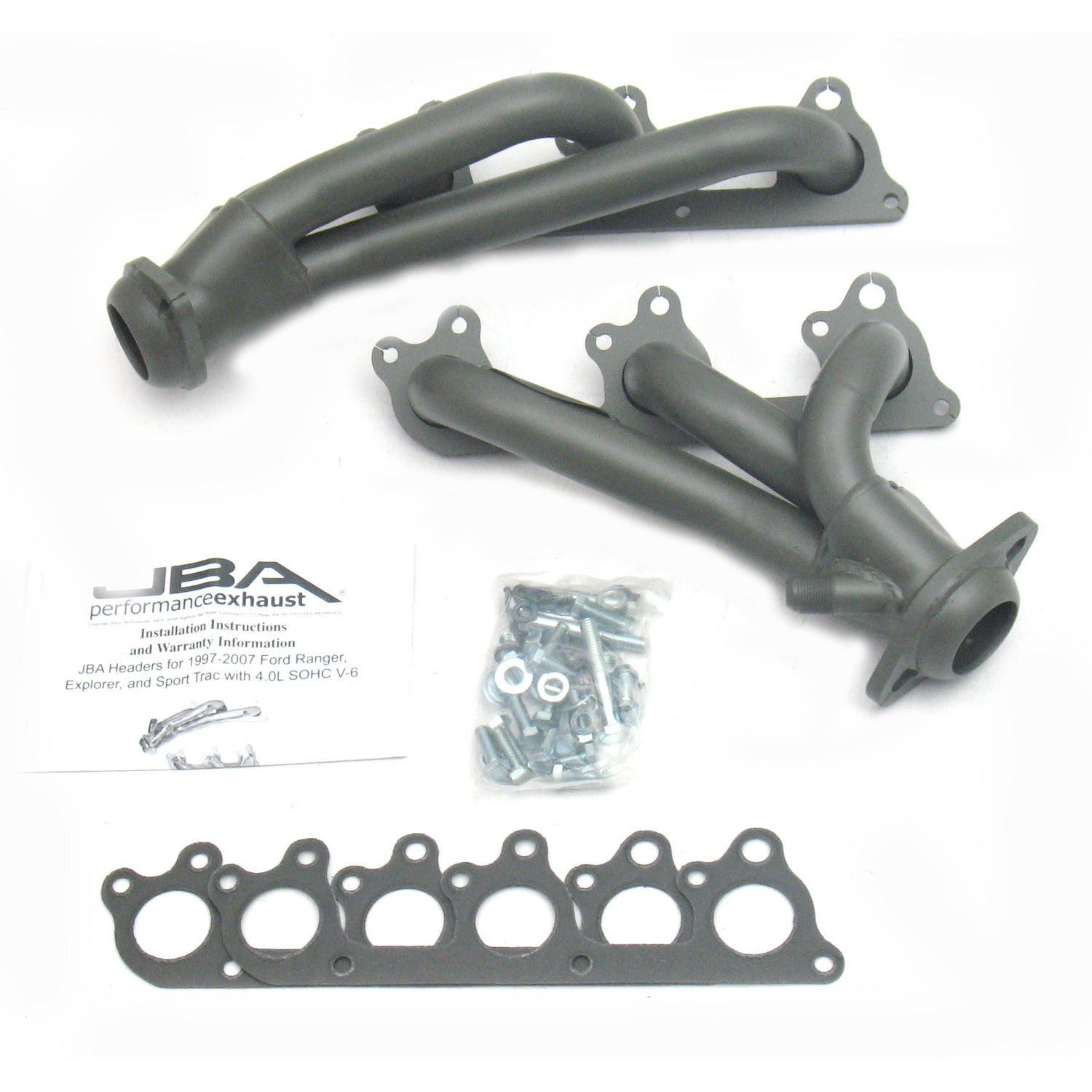 "JBA Performance Exhaust 1674S-1JT 1 1/2"" Header Shorty Stainless Steel 97-11 Ranger/Explorer 4.0L SOHC Titanium Ceramic"