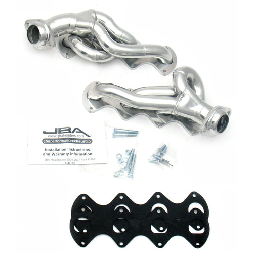 "JBA Performance Exhaust 1676S-1JS 1 5/8"" Header Shorty Stainless Steel 05-10 Ford F-250/350 5.4 Silver Ceramic"