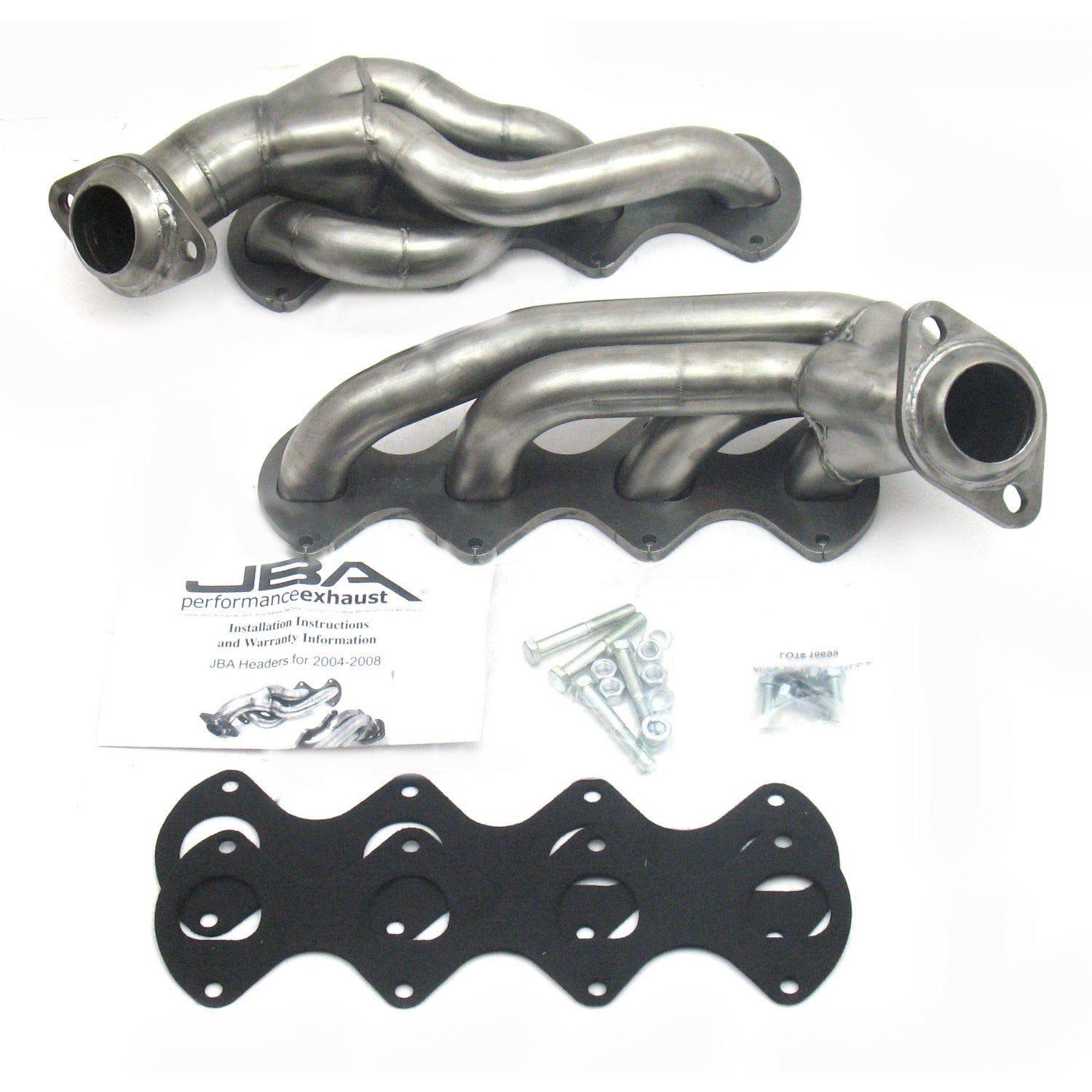 "JBA Performance Exhaust 1676S 1 5/8"" Header Shorty Stainless Steel 04-10 Ford F-150 5.4L 3 Valve"