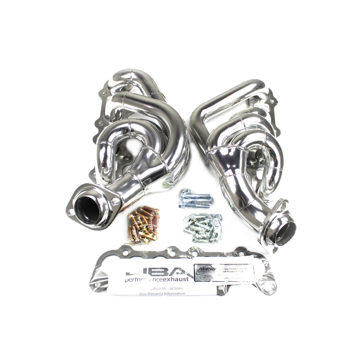 JBA Performance Exhaust 1683SJS  Header Shorty Stainless Steel 15-19 Ford Truck F-150 5.0L Silver Ceramic