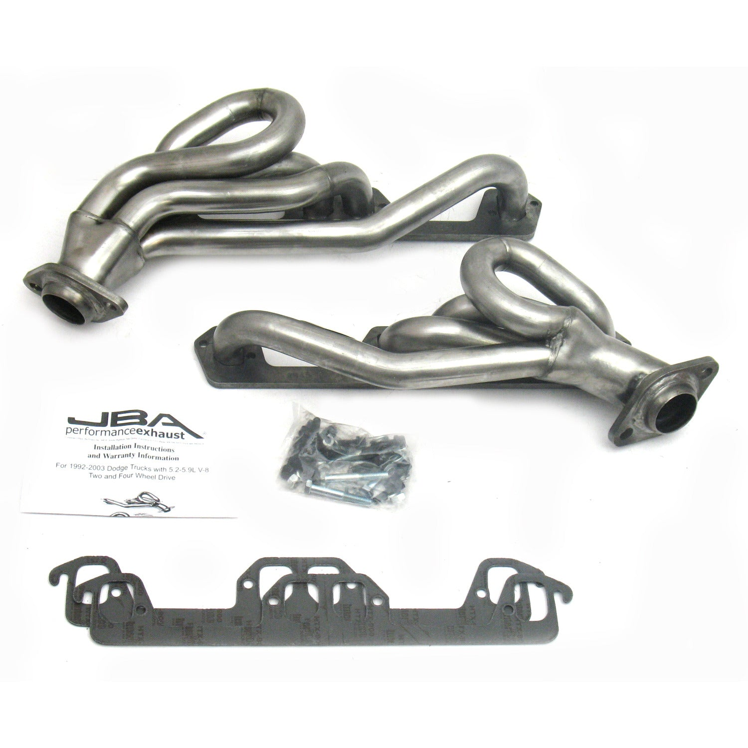 "JBA Performance Exhaust 1945S-1 1 1/2"" Header Shorty Stainless Steel 96-02 Ram/Dakota/Durango"