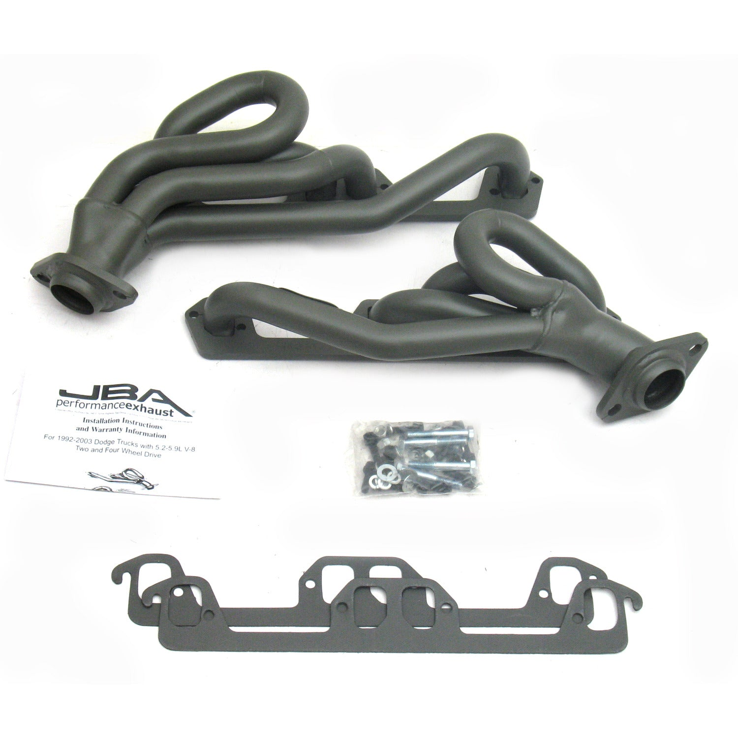 "JBA Performance Exhaust 1945S-1JT 1 1/2"" Header Shorty Stainless Steel 96-02 Ram/Dakota/Durango Titanium Ceramic"