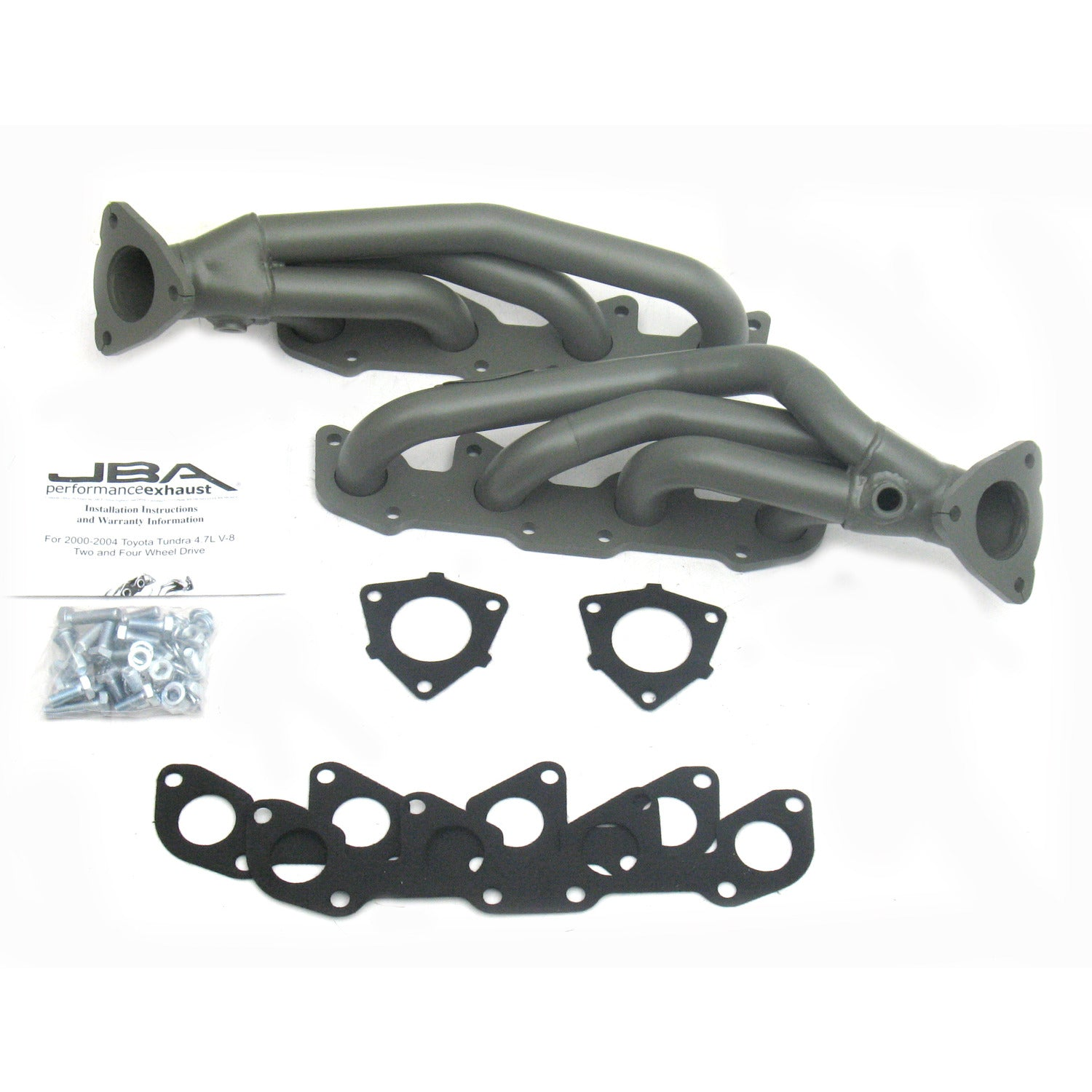 "JBA Performance Exhaust 2010SJT 1 1/2"" Header Shorty Stainless Steel 00-04 Tundra/Sequoia 4.7L Titanium Ceramic"
