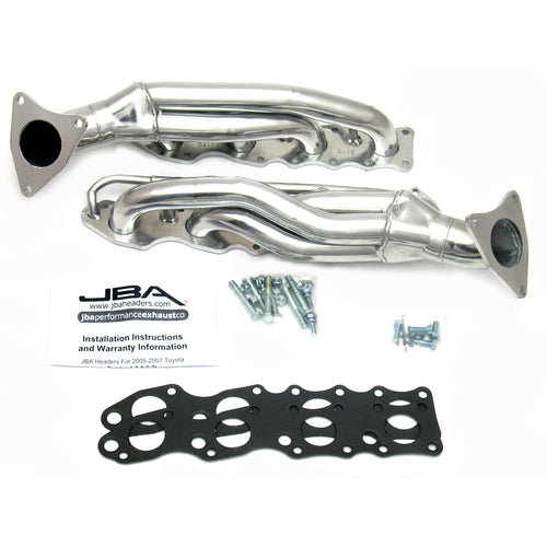 "JBA Performance Exhaust 2012SJS 1 5/8"" Header Shorty Stainless Steel 07-19 Toyota Tundra 5.7L Silver Ceramic"