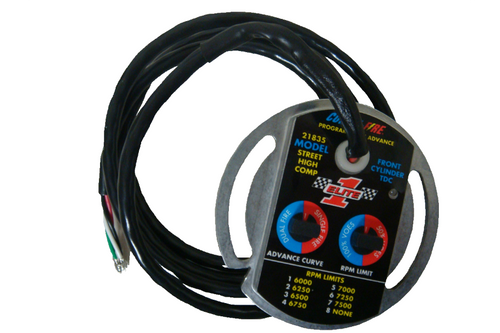 Compu-Fire 21835-KS - Selectable Electronic Advance Ignition Module for 70-99 Big Twin (Excluding Fuel Injected) Harley® Models & 71-01 XL (Excluding S) Models for High Performance with Kick Start