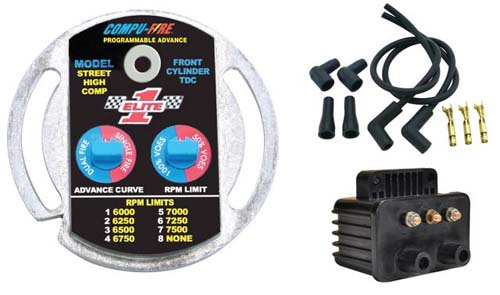 Compu-Fire 22003 - Single Fire Ignition System Kit for Electric Start equipped 70-99 Big Twin (Except Fuel Injected) Harley® Models & 71-01 XL (Except S)