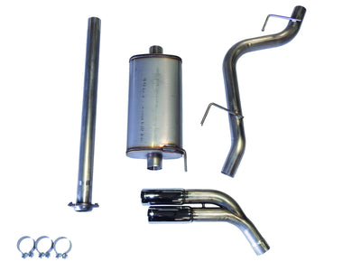 JBA Performance Exhaust 30-2544 304 Stainless Steel Exhaust System 2015-19 Ford F-150 2/4WD 2.7/3.5/5.0L including ECO dual side exit