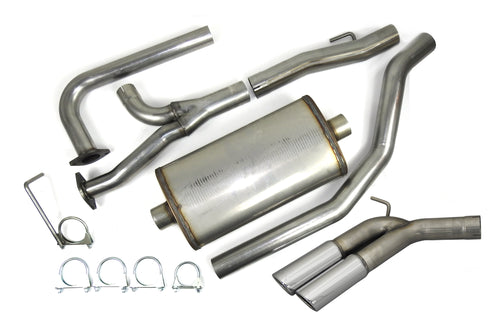 "JBA Performance Exhaust 40-1403 3"" Stainless Steel Cat Back Exhaust System 2004-2020 Nissan Titan 5.6L Dual 3 1/2"" Tips Side Rear Exit / Not for XD models."