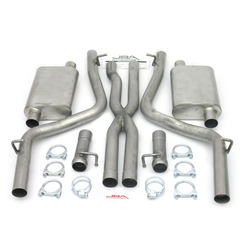 "JBA Performance Exhaust 40-1666 2.5"" Stainless Steel Exhaust System 08-14 Dodge Challenger Dual Exhaust 5.7L"