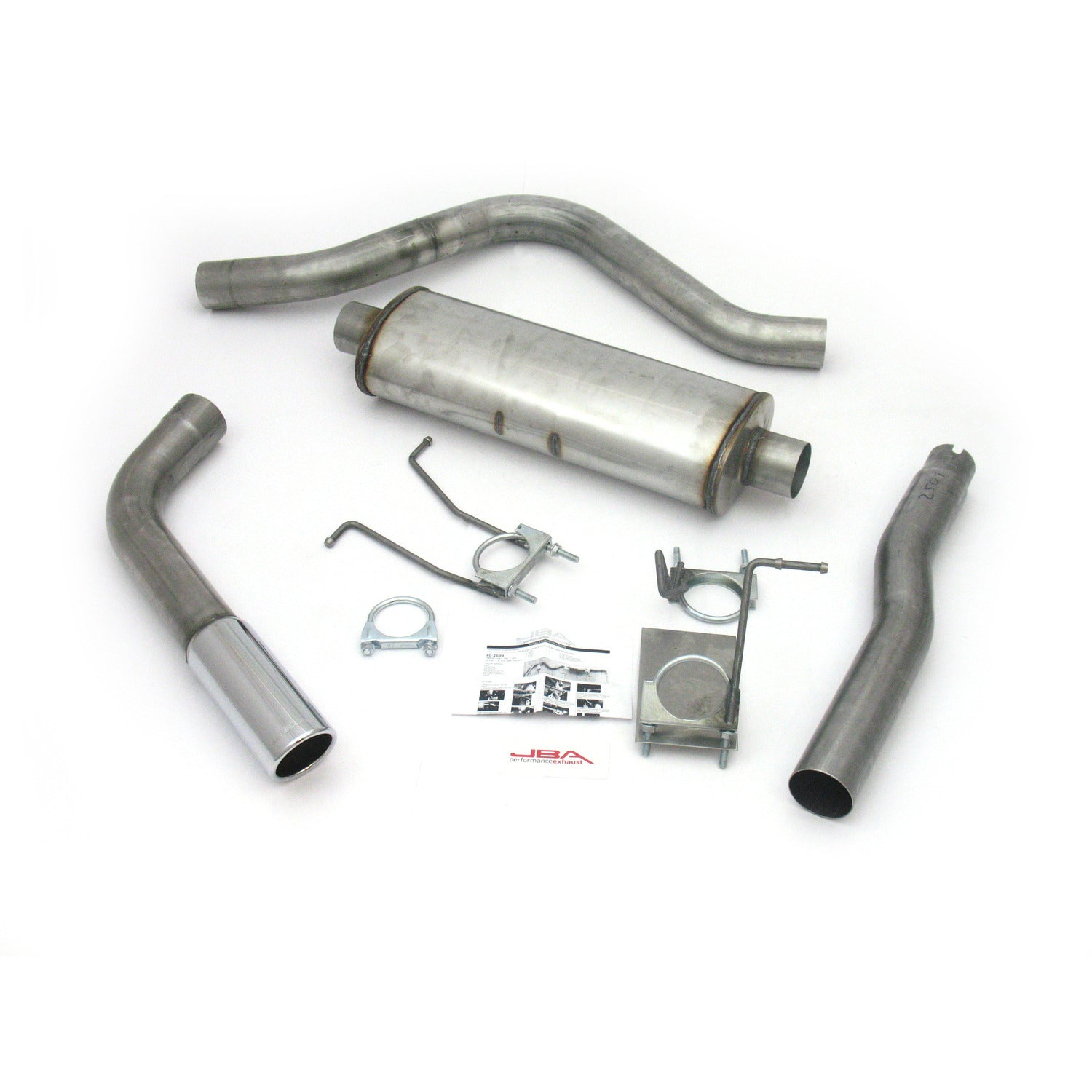 "JBA Performance Exhaust 40-2509 3"" Stainless Steel Exhaust System 87-96 Ford Super Cab Long Bed"
