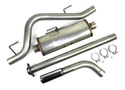 "JBA Performance Exhaust 40-2529 3"" Stainless Steel Exhaust System 2015-2020 Ford F-150 2/4WD 2.7/3.5/5.0L including ECO with 3.5"" Stainless Slash Cut Rolled tip behind right rear tire"