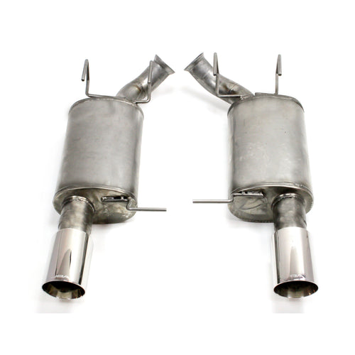 "JBA Performance Exhaust 40-2618 3"" Stainless Steel Axle Back Exhaust System 2011-14 Mustang 3.7L V6 3"" with 4"" Tips"