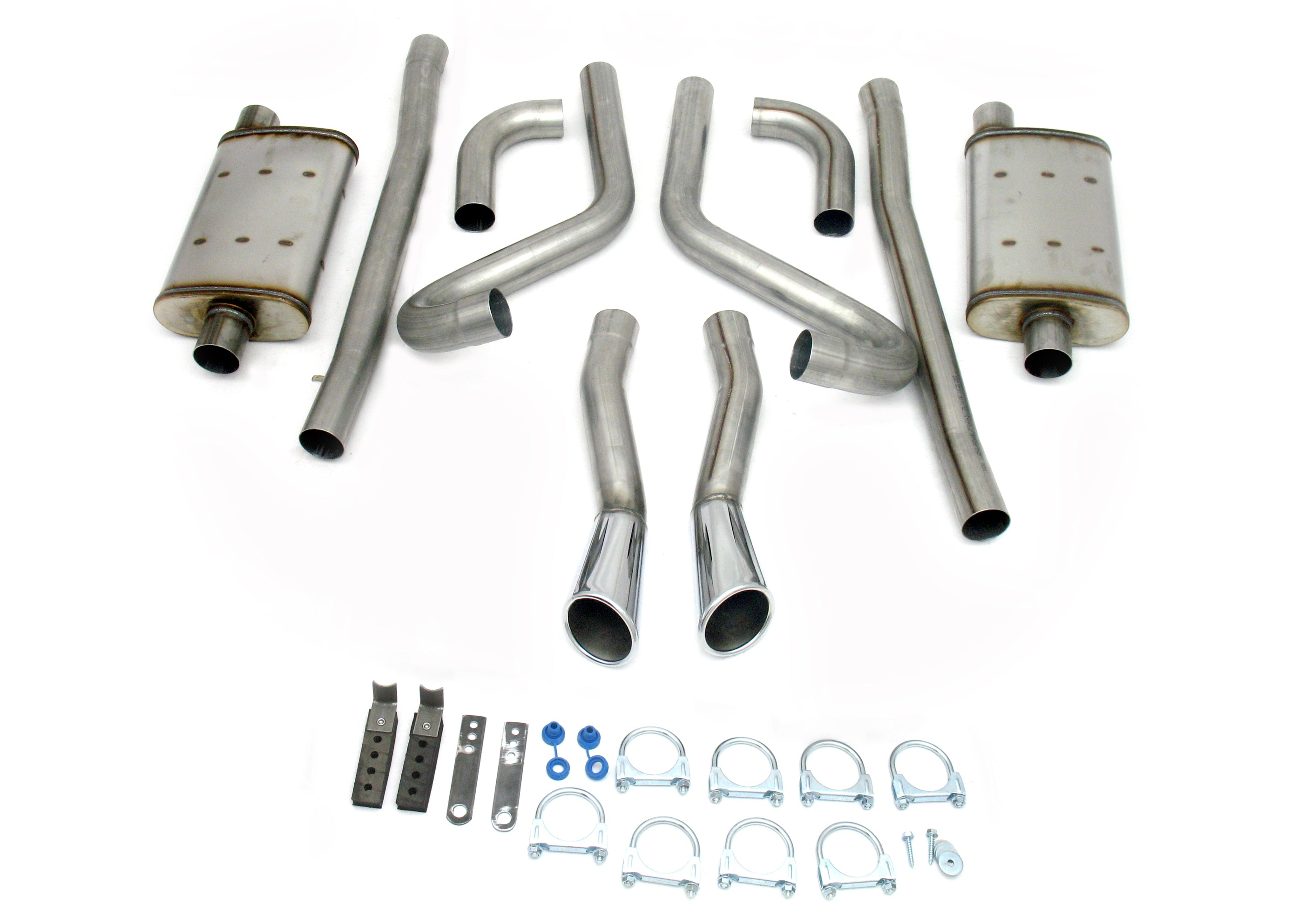 "JBA Performance Exhaust 40-2653 2.5"" Stainless Steel Exhaust System 65-66 2-1/2"" Mustang GT"