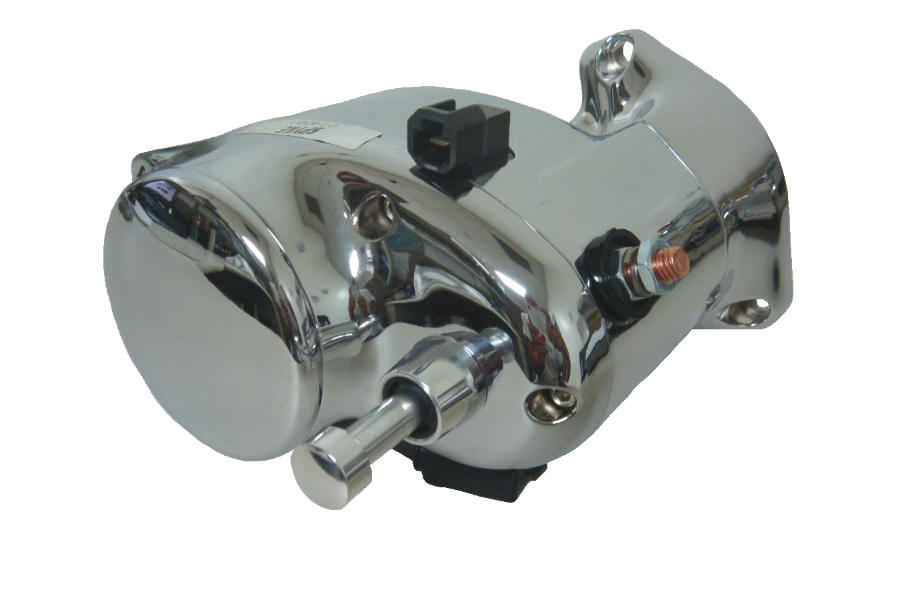 Spyke 480155 - Polished Stealth Starter with Push Button for 89-93 Big Twin Harley® Models (Except FLT)