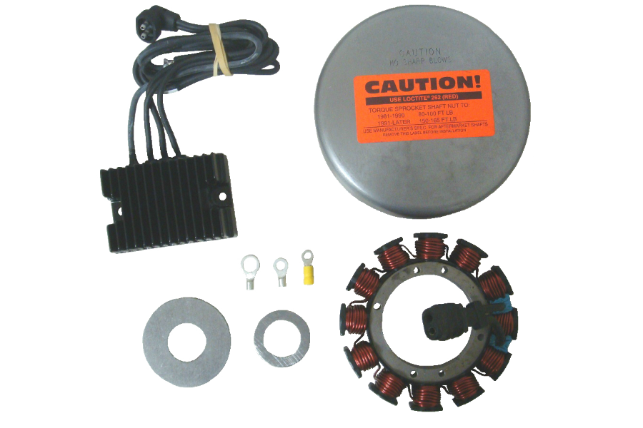 Compu-Fire 55520 - Charging System Kit for 81-99 Evo Harley® Models with Narrow Rotor (Except Fuel Injection)