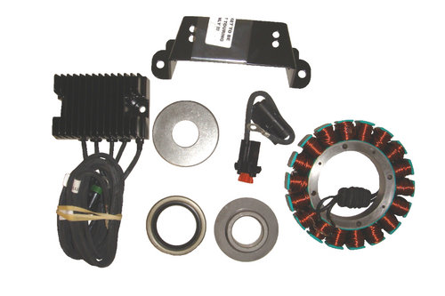 Compu-Fire 55560 - Charging System Kit with Vented Rotor for 81-99 Evo Harley® Models